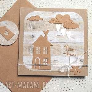 na PARAPETÓWKĘ :: kartka handmade nowy dom, mieszkanie, parapetówka