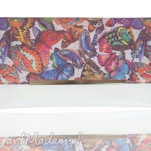 handmade kopertówka koperta manzana motyle