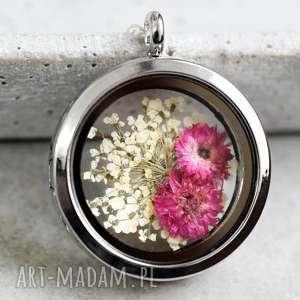 925 suszone kwiaty srebrny naszyjnik - kwiaty, kwiat, srebro, srebrny, kolor, elegancja