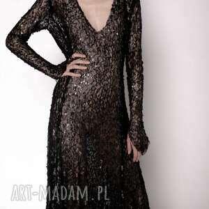 sukienki sukienka z siateczki, suknia, sukienka, cekiny, cekinowa, bal