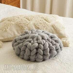 mondu poduszka czesankowa szara, czesankowa, wełniana, dekoracyjna