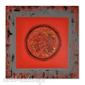fireball, nowoczesny obraz ręcznie malowany - obraz