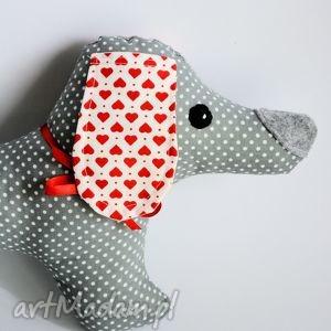 handmade maskotki pies jamnik - jacuś 35