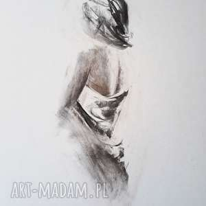 woman 30x40, grafika-kobieta, grafika-do-salonu, grafika-do-sypialni, rysunek-kobieta