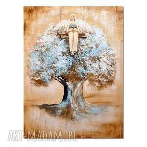 anioł emanuel, obraz ręcznie malowany, obraz, ręcznie, anioł