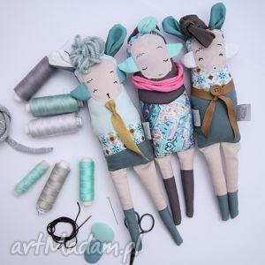 trzy siostry szi - zabawki hand made na prezent, turkusowy, morski, króliczek