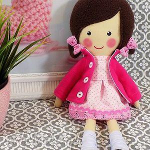ręcznie zrobione lalki malowana lala lilia