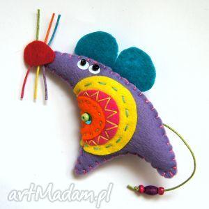 myszowata - broszka z filcu, filc, mysz, broszka, modna, lekka, miękka