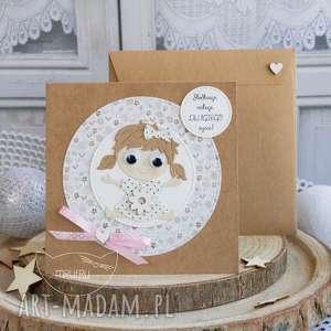 Prezent Personalizowana kartka dla dziewczynki - Narodziny, Chrzest, Roczek, Urodziny