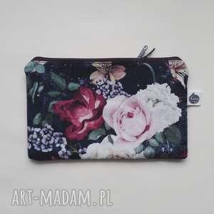 portmonetka/ kosmetyczka róże zieleń, portmonetka, kosmetyczka, róże, vintage