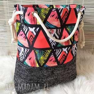 wyjątkowy prezent, torba worek arbuzy, torba, torebka, worek, damska, plażowa