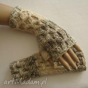 handmade rękawiczki mitenki w tonacji