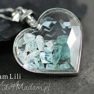 handmade naszyjniki 925 srebrny naszyjnik aquamarine