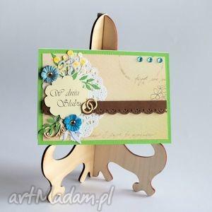 kartka - w dniu ślubu 2, kartka, ślub, romantyczna, vintage, miłość, oldschool