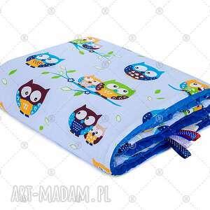 pokoik dziecka ocieplany kocyk przedszkolaka minky 100x135 kołdra koc sówki