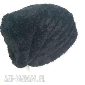 czapki czapka damska czarne mis zimowa, czapka, etno, folk, mis, boho