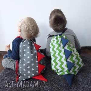 dla dziecka worek-plecak dinozaurowy z haftem, worko plecak, do przedszkola