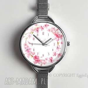 zegarek damski kwiaty - zegarek bransoletka, damski zegarek
