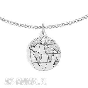 bransoletka z kulą ziemską - passion, kula ziemska, globus, srebro, celebrytka