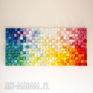 dekoracje mozaika drewniana, obraz 3d dyfuzja, mozaika, rękodzieło, loft, modern