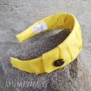 handmade ozdoby do włosów żółta opaska