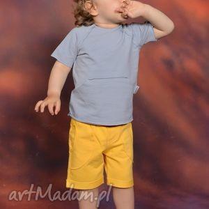 letnia bluzeczka z kieszonką kangurką szara, bawełna, kieszeń, lekkie