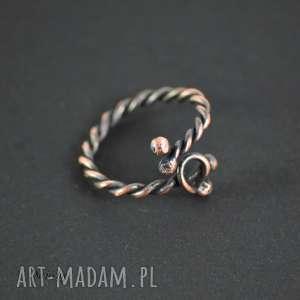 freja - pierścionek minimalistyczny, wikingów, z miedzi