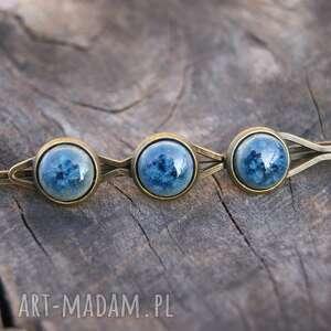 wsuwka do włosów trzy oczka-niebieska, włosów, spinka