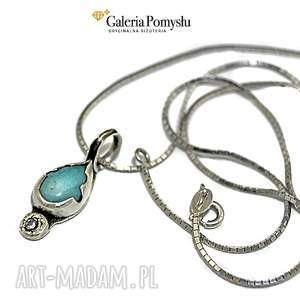 Amazonit, amazonit, cyrkonia, srebro, 925, wisiorek