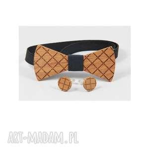 Zestaw #2 muchy i muszki the bow ties mahoń, drewno