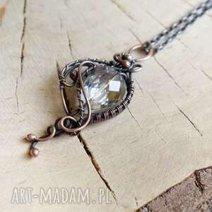 retro glow - naszyjnik z wisiorem, biżuteria miedzi