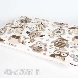 płaska poduszka minky - sowy 40x60 cm, poduszka, poszewka, minky