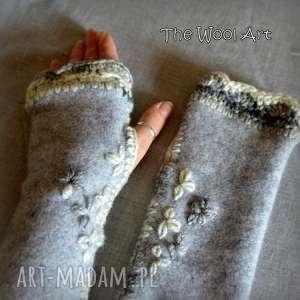 rękawiczki mitenki - rękawiczki, mitenki, wełniane, naręce, naprezent