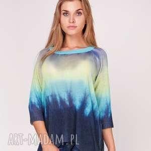 Sweterek cieniowany CZAPKA GRATIS !!!, ombre, sweter, nadruk, cieniowany, bluzka