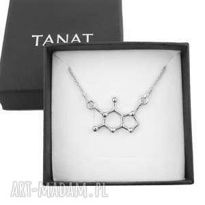 Srebrny molekularny naszyjnik CZEKOLADA, srebrny, naszyjnik, czekolada,