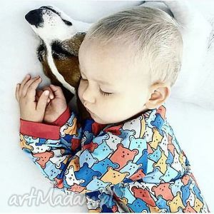 dziecięca bluza dresowa - kolorowe misie - bluza, dziecięca, miś, misie