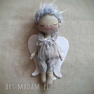 dekoracja tekstylna aniołek szymek - chłopiec, anioł, malowany, prezent