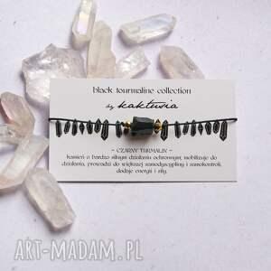 ochronna bransoletka - czarny turmalin, amulet, ochronna, bransoletka