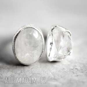 925 Srebrny pierścionek Kamień księżycowy górski