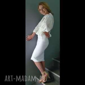 hand-made spódnice spódnica tuba biała