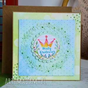 Kartka - mały królewicz scrapbooking kartki maly koziolek kartka