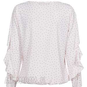 ręczne wykonanie bluzki bluzka z falbankami w rękawie, plus size