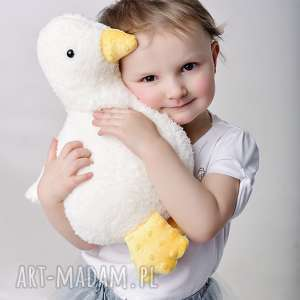 przytulanka dziecieca kaczuszka - kaczuszka hand made, dekoracja pokoju, pomysł na