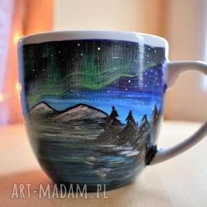 ręcznie wykonane kubki kubek malowany zorza polarna 400