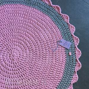 DYWAN ZE SZNURKA BAWEŁNIANEGO RÓŻOWY 100 CM, dywan, chodnik, sznurek, szydełko