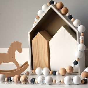 ręcznie zrobione pokoik dziecka girlanda drewniana