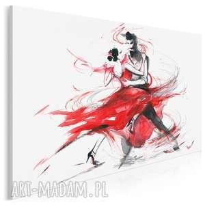 obraz na płótnie - abstrakcja tango 120x80 cm 14701, obraz, tango, taniec