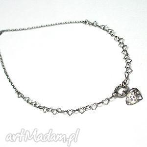 Heart - naszyjnik, srebro, oksydowane, serce