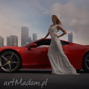 Pawel Kuzik. Gray long dress 34