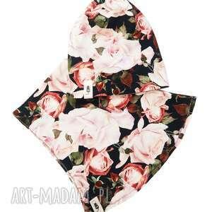 zestaw czapka komin rose, i komin, dla dziewczynki, zimowa